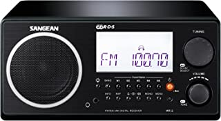 Sangean All in One AM/FM Alarm Clock Radio with Large Easy to Read Backlit LCD Display (Black)