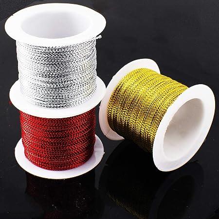 Silver Morex Ribbon 1318//50-631 Stretch Cord Polyester Ribbon 50 yd