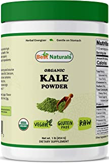 Best Naturals Certified Organic Kale Powder 1 Pound (454 Grams)