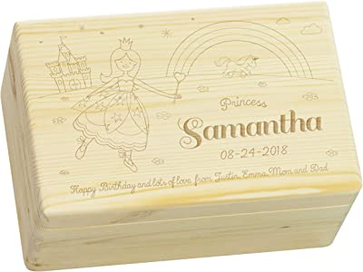 Amazon.com: LAUBLUST Caja de recuerdos de madera grabada ...