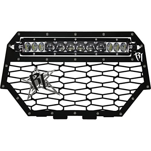 Skull Flame Brushed Stainless Radiator Cover Grille fits 14-16 Polaris RZR 1000