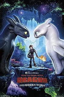 Trends International Train Your Dragon: The Hidden World-Key Art Wall Poster, 22.375