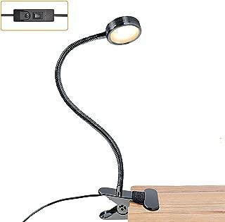 LUXJET LXJ-NKL-BL Book Lights Rechargeable Neck Lamp for Reading at Night, Hands Free, 4 LED Bulbs, 3 Adjustable Brightness, Dark Blue1 (Black)