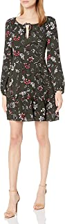 cupcakes and cashmere womens Cayleen Floral Print Dress Casual Night Out Dress