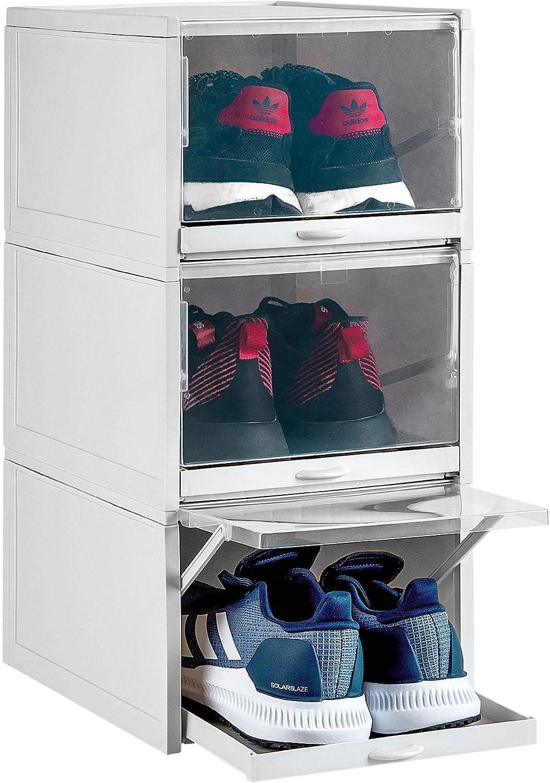 Buy Laizenco Stackable Drawer Type Shoe Box, Shoe Organizer, Shoe ...