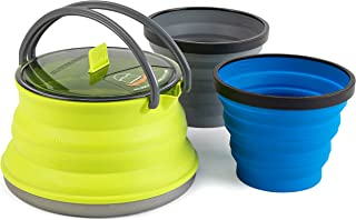 Sea to Summit X-Set 11 (3 Piece) X-Kettle & 2 X-Mugs, 1.3 L, Lime Green