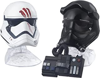 Star Wars Black Series Titanium Series Finn and First Order Tie Fighter Pilot Helmets