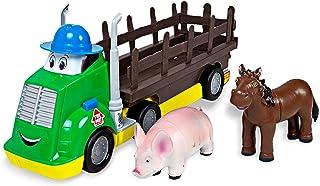 Boley Farm Transporter - 3 Piece Truck and Farm Animal Figures Playset - Farm Animals Toys for Toddlers Boys and Girls Age...