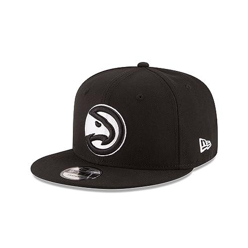 pretty nice a07a4 89ff5 New Era NBA Atlanta Hawks Men s 9Fifty Snapback Cap, One Size, Black