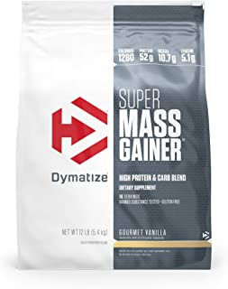 Dymatize Super Mass Gainer Protein Powder, 1280 Calories & 52g Protein, Gain Strength & Size Quickly, 10.7g BCAAs, Mixes E...