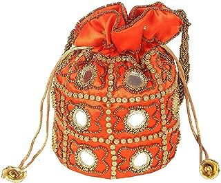 Indian Satin Potli Bag Potli Bags for Women, Indian Potli Bag Ethnic Velvet for Wedding, Potli Bags for Return Gift, Shagun Potlies, Traditional Potli Bags, Wedding Party Favor Gift Bags