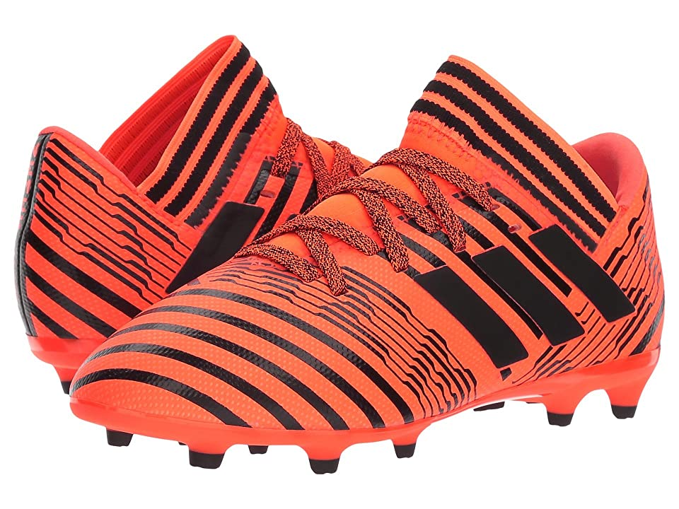adidas Kids Nemeziz 17.3 FG J Soccer (Little Kid/Big Kid) (Orange/Black) Kids Shoes
