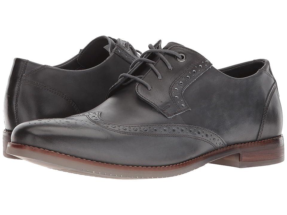 Rockport Style Purpose Wing Tip Blucher (Dark Shadow Leather) Men
