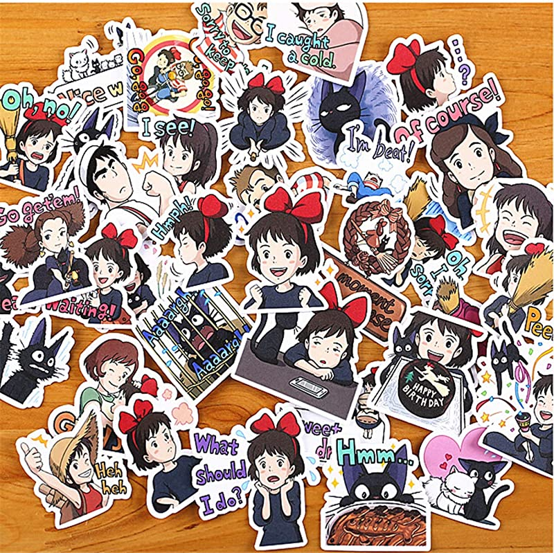 40pcs Pack Creative Cute Self Made Kiki S Delivery Service Scrapbooking Stickers Decorative Sticker Teacher Reward Decorative Scrapbooking DIY Craft Photo Albums