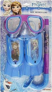 Snorkel de Pato Feminino Etitoys Azul/Estampa Frozen
