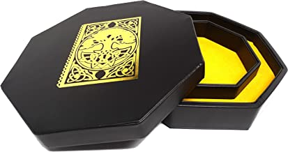 Easy Roller Dice Co. 8 Inch Dice Tray with Lid and Dice Staging Area - Spell Book Design