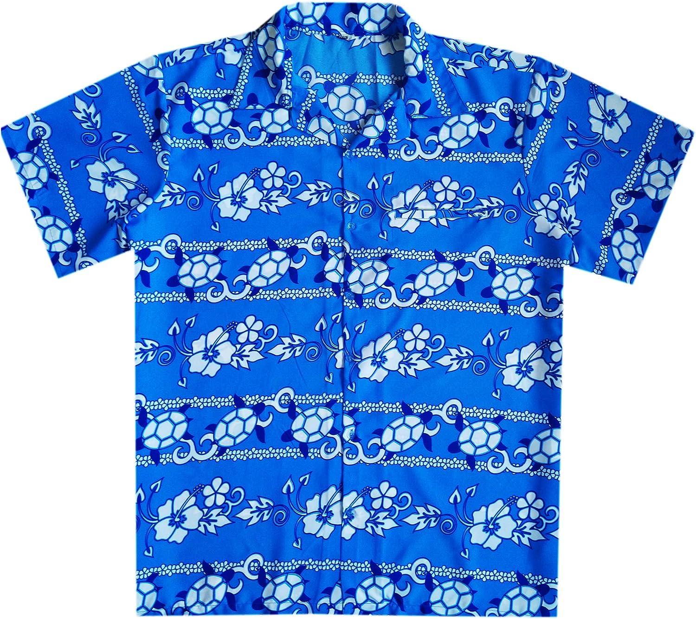Varnit Crafts Funky Hawaiian Shirt Button-Down Short-Sleeve Turtle