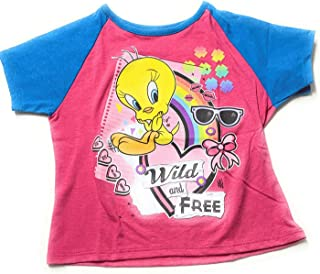 Tweety Bird Little Girls' Toddler Short Sleeve Shirt Wild and Free