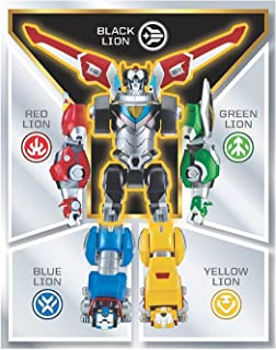 Voltron Red, Yellow, Blue, Green and Black Lion Assortment Figures Bundled Set of 5