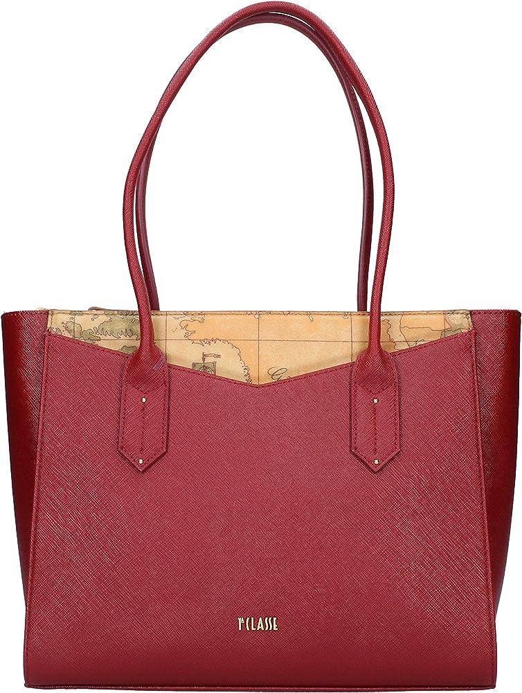 Alviero martini air city, borsa per donna, in pelle siintetica e etessuto stampato geo LGP2594070309