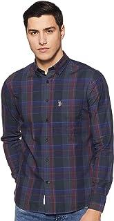 US Polo Association Men's Checkered Regular fit Casual Shirt