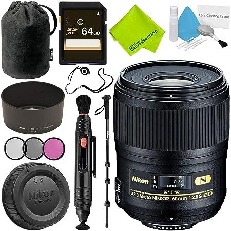 Nikon AF-S Micro-NIKKOR 60mm f/2.8G ED Lens Advanced Bundle