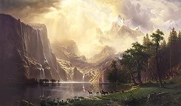 Albert Bierstadt - Among The Sierra Nevada Mountains, Size 24x36 inch, Poster art print wall décor