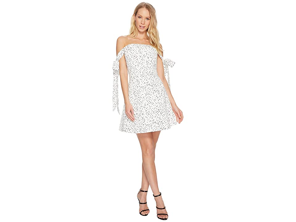 KEEPSAKE THE LABEL Embrace Me Mini Dress (White/Black Spot) Women