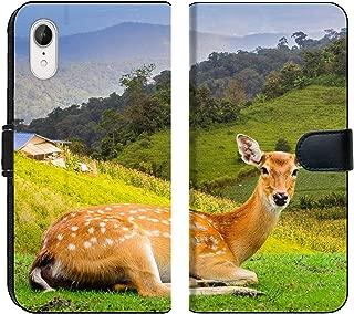 Luxlady iPhone XR Flip Fabric Wallet Case ID: 40057403 Chital Deer Spotted Deer Axis Deer