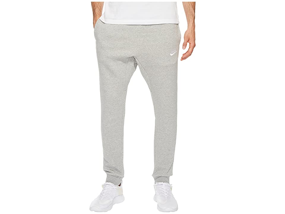 Nike Sportswear Fleece Jogger (Dark Grey Heather/White) Men