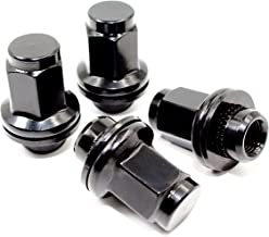 Set of 20 Veritek 14x1.5mm OEM Style Factory 1.80 Inch 7/8 22mm Hex Mag Washer Replacement Black Lug Nuts for Toyota Sequoia Landcruiser Tundra Lexus LX