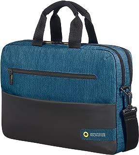 City Drift Laptop Bag Portable Handbag Hanger, 43 cm, 16 Liters, Black/Blue