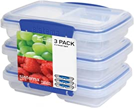 Sistema Klip It Collection Small Split Food Storage Containers, 1.5 Cup each, Set of 3