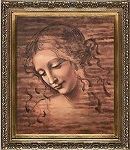 لوحة زيتية لرؤوس الأنثى La Pastiche (La Scapigliata) بواسطة Leonardo Da Vinci ، مقاس 50.8 سم × 60.96 سم، إطار خشبي باروك