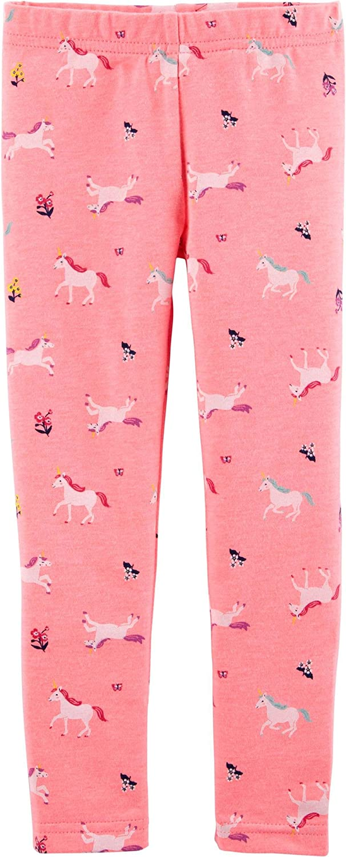 Carter's Girl's Pull-on Bright Pink Unicorn Leggings