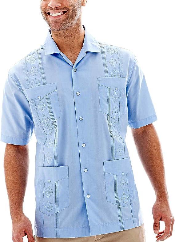 Havanera Camisa Guayabera de manga corta para hombre