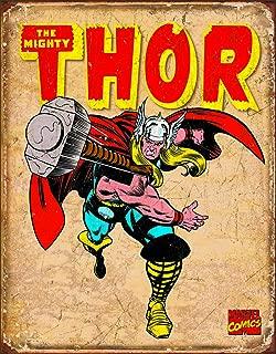 Desperate Enterprises Marvel Comics Thor Retro Tin Sign, 12.5