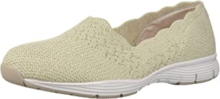 Women's Seager-Stat-Scalloped Collar, Engineered Skech-Knit Slip-on-Classic Fit Loafer