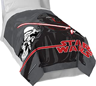 Jay Franco Ep 7 Live Action Blanket-Measures 62 x 90 inches, Kids Bedding Features Kylo Ren & Stormtroopers-Fade Resistant Super Soft Fleece-(Official Product), Star Wars Ep7 Grey