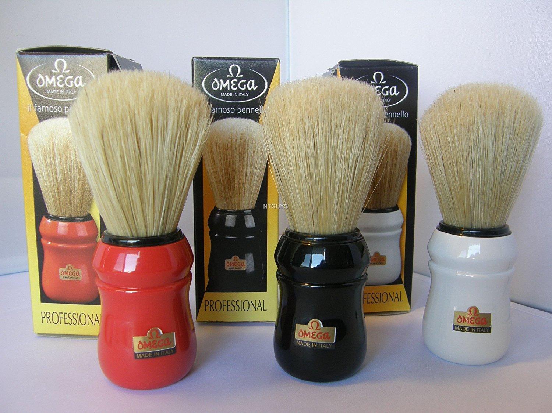 Omega Boars Hair Super-cheap Shave 5 ☆ popular Brush Colors Porcelin Handle Assorted