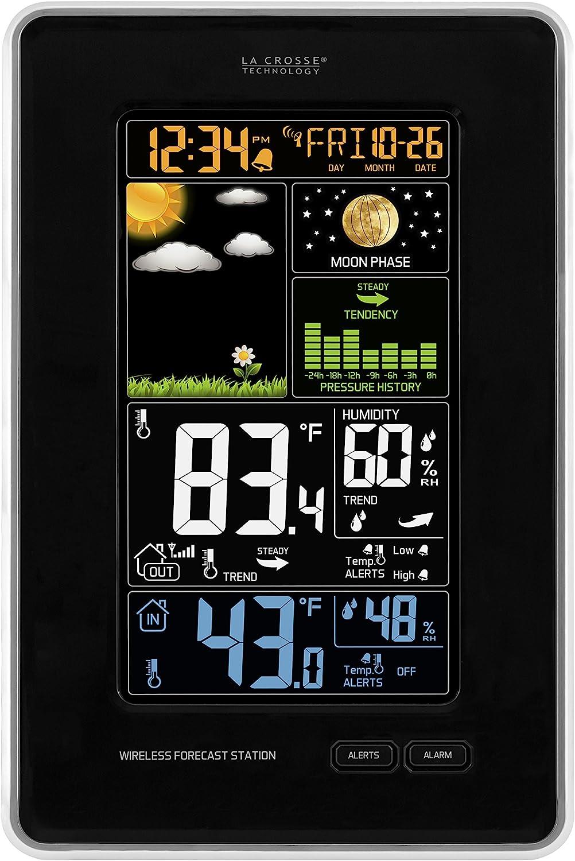 La Crosse Technology Latest item Free shipping / New 308-1425B-INT Weath Wireless Vertical Color