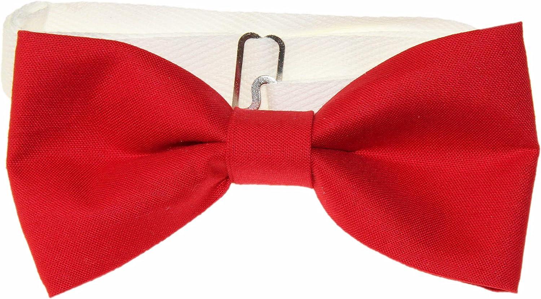 Men's Cardinal Red Pre-Tied Adjustable Cotton Bow Tie