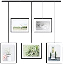 Umbra Exhibit Picture Frame Gallery Set Adjustable Collage Display for 5 Photos, Prints, Artwork & More (Holds Two 4 x 6 i...