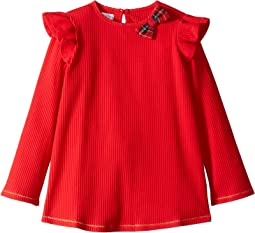 Ruffle Tartan Bow Tunic (Infant/Toddler)