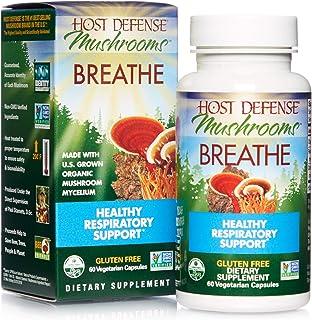 Host Defense, Breathe, 60 Capsules, Respiratory Support, Mushroom Supplement with Cordyceps, Reishi and Chaga, Vegan, Orga...