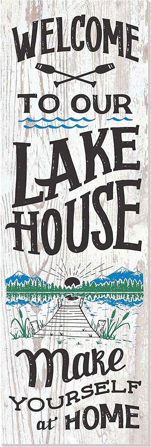 Welcome To Our Lake 最安値 OUTLET SALE House Wood Rustic Wall Style Sign 10x3 Décor