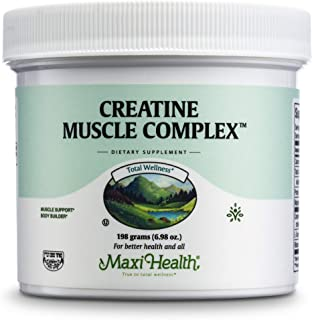 Maxi-Health Monohydrate Creatine For Muscle Mass With L-Taurine And Ribose Powder - Nutrition Supplement Fo...