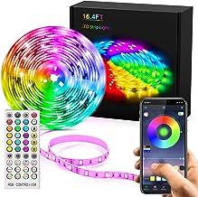 LED Strip Lights, Lights Strip Music Sync, App Control Remote, 5050 RGB LED Light Strip Color Changing, LED Lights Rope Li...