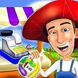 encargado de tienda de cajero de granja juego de niños