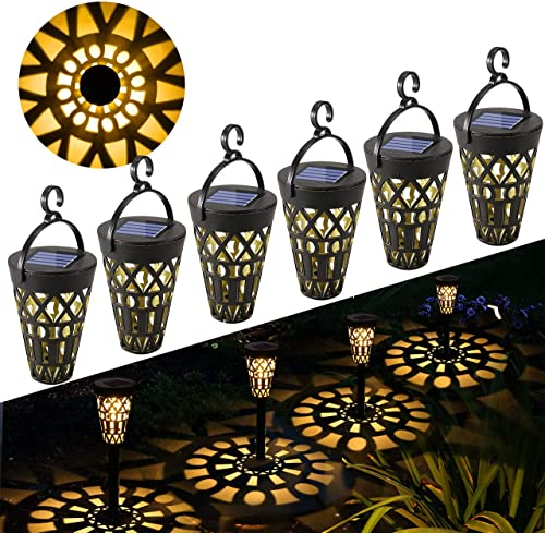 Lámpara Solare para Jardín GolWof 6 Piezas Luz Solar Exterior Impermeable Luces Solar Exterior Luces Exterior Ilumina...